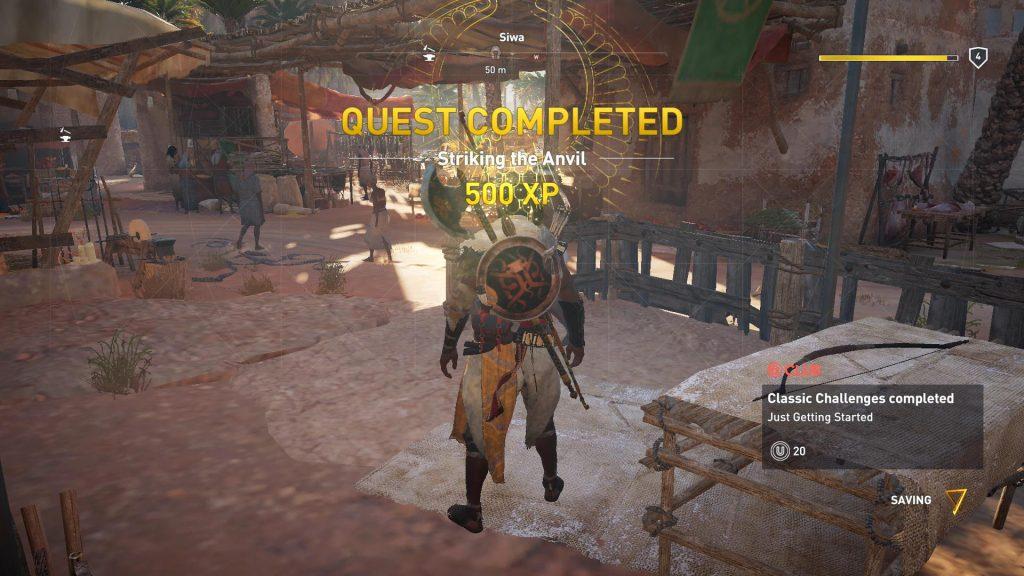 Quest Striking the Anvil udført