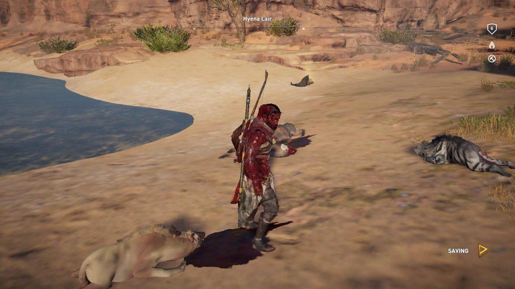 Siwa ep 11 - Bayek's promise - Lettere blodig efter nedslagtning af hyæner