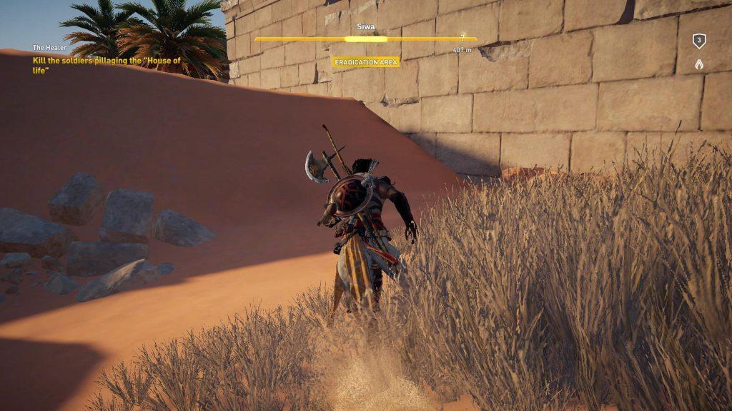 Eradication Area kan tages tilbage, blive befriet, i modsætning til en Camp!