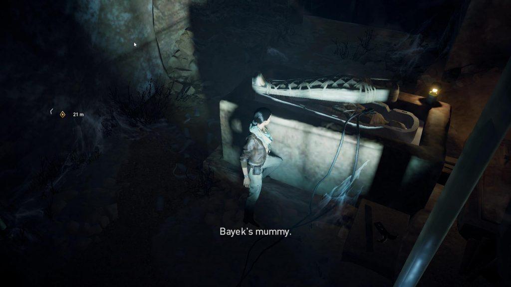 Layla med Bayek's mumie